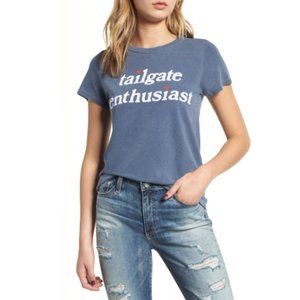 Junk Food-Blue Tailgate Enthusiast Graphic T-Shirt